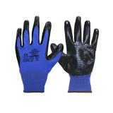 """Перчатки """"РифНит"""" (нейлон с черным нитрилом, рифл.покрытием,13-й класс вязки)"""