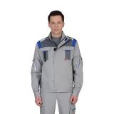 """Куртка """"СТАН"""" : св.серый со сред.- серым и васильковым"""