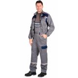 "Костюм ""Практик-Сервис"" куртка, п/к. средне-серый с т,синим тк.CROWN-230"