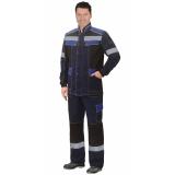 """Костюм """"Полином"""":муж., куртка, брюки синий с черным и васильковым"""