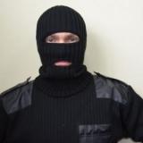 Шапка-маска вязанная черная