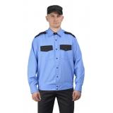Рубашка охранника длинный рукав на поясе