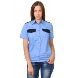 Женская рубашка охранника на резинке короткий рукав