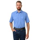 Рубашка охранника в заправку короткий рукав